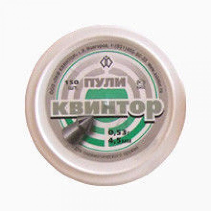 "Пули для пневматики  ""Квинтор"", 4,5 мм, острая гол./насечка(150шт)"