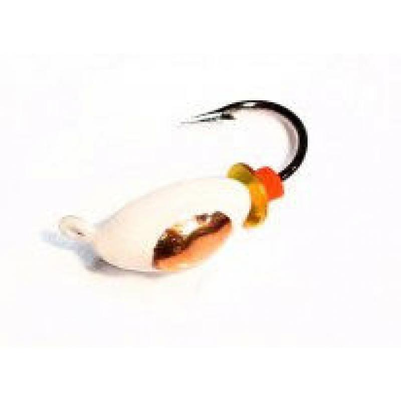Нимфа 3 белая с коронкой (мормышка вольфрамовая)