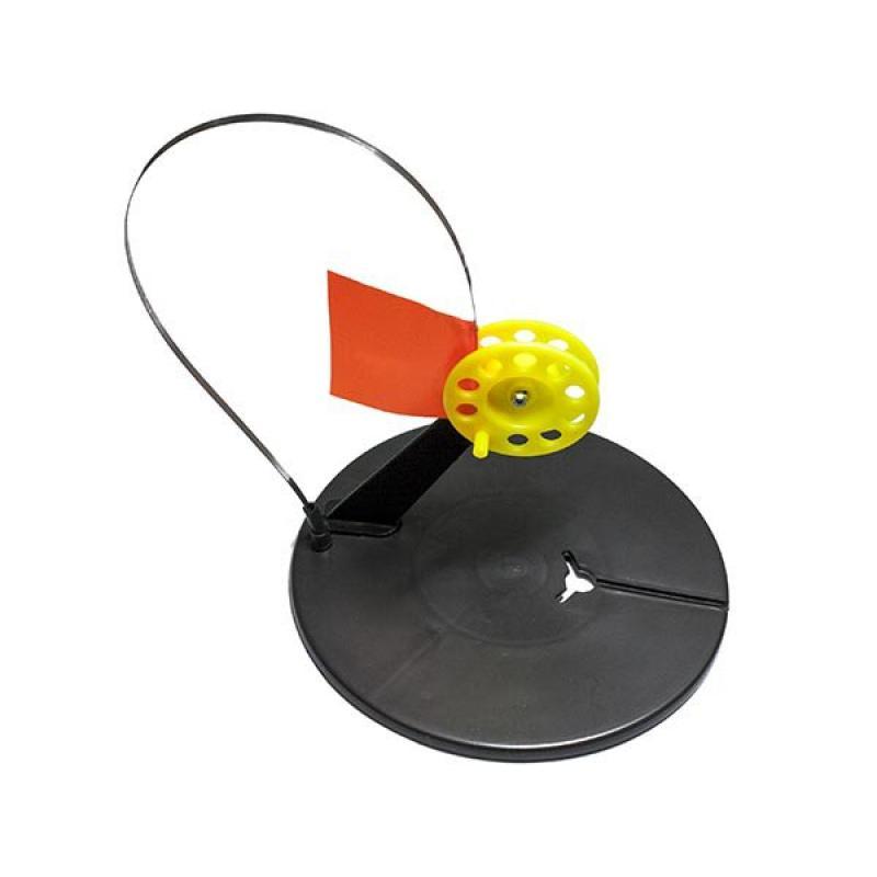 Жерлица зимняя круглая с угловой стойкой (диаметр катушки -60 мм, цветная катушка)