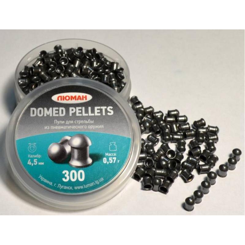 Пули пневматические  Люман 4,5мм Domed pellets 0,57г (300шт) круглоголовые