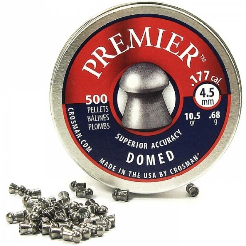 Пули пневматические Crosman Premier Domed 10,5 гран 4,5 мм (500 шт)