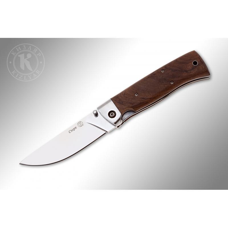 Нож складной СТЕРХ  сталь Х12МФ (дерево/стальные притины)