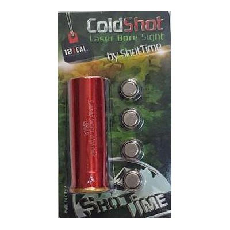 Лазерный патрон ShotTime ColdShot кал.12, материал - латунь, лазер - красный, 655нМ