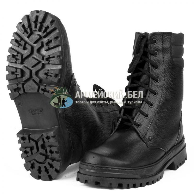 Ботинки с высоким берцем Армия хром (кожа)