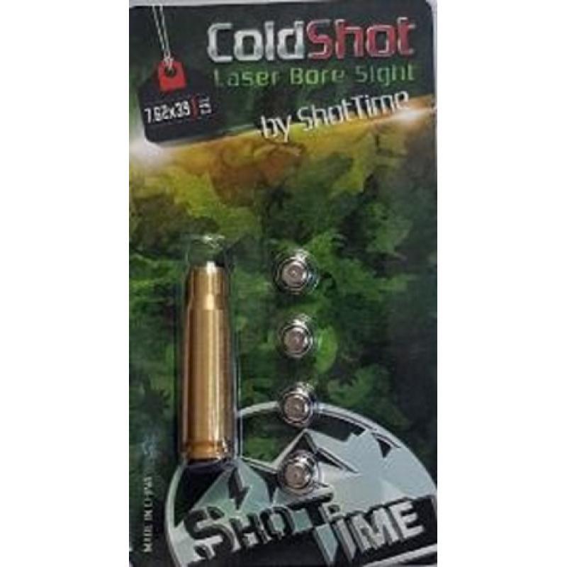 Лазерный патрон ShotTime ColdShot кал. 7.62X39, материал - латунь, лазер - красный, 655нМ