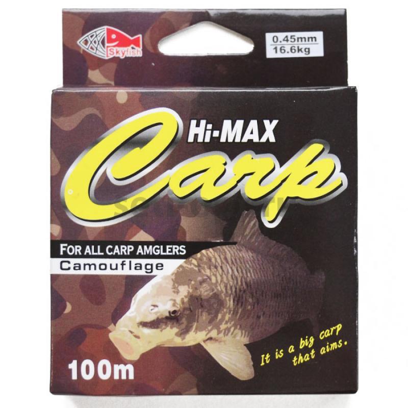 Леска SkyFish Hi-Max Carp 0.20 мм, 6,0 кг  (100 м)