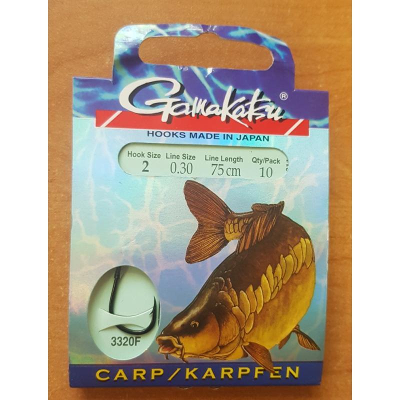 Крючки рыболовные с поводком Gamakatsu BKD-3320F №2 Carp