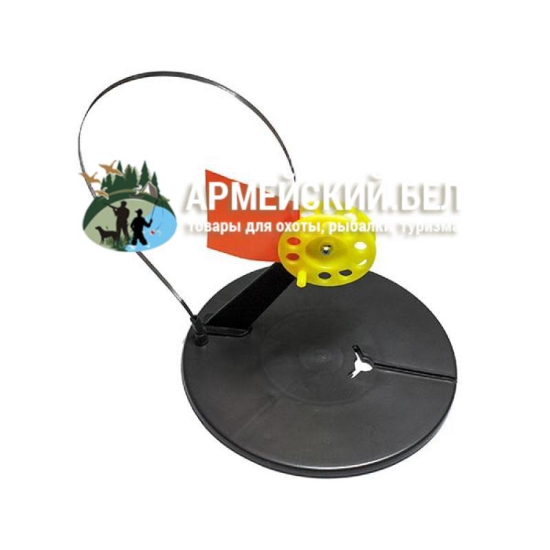 Жерлица ЩУКАРЬ зимняя круглая с угловой стойкой цветная катушка в сумке (упаковка-10 штук)