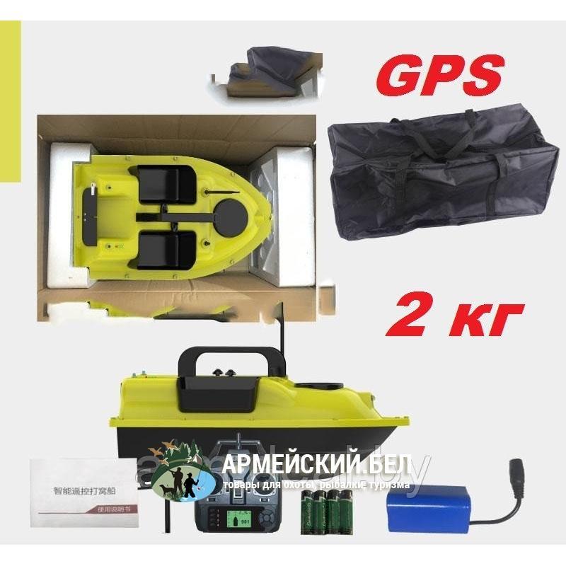 Прикормочный кораблик Flytec V010 GPS автопилот, желтый