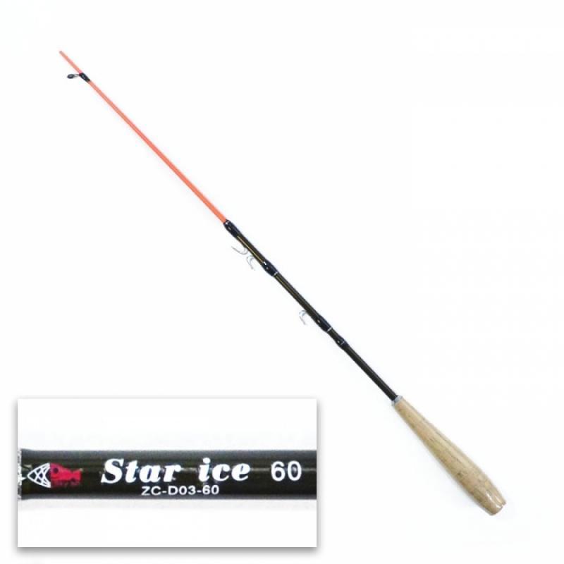 Удочка зимняя Star Ice SkyFish, 70 см, рукоять пробка, 50% карбон