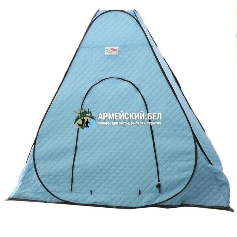 Зимняя утепленная палатка-автомат 6 лучей, 2,0 *2,0 *1,7м (3-слойная, термостежка)