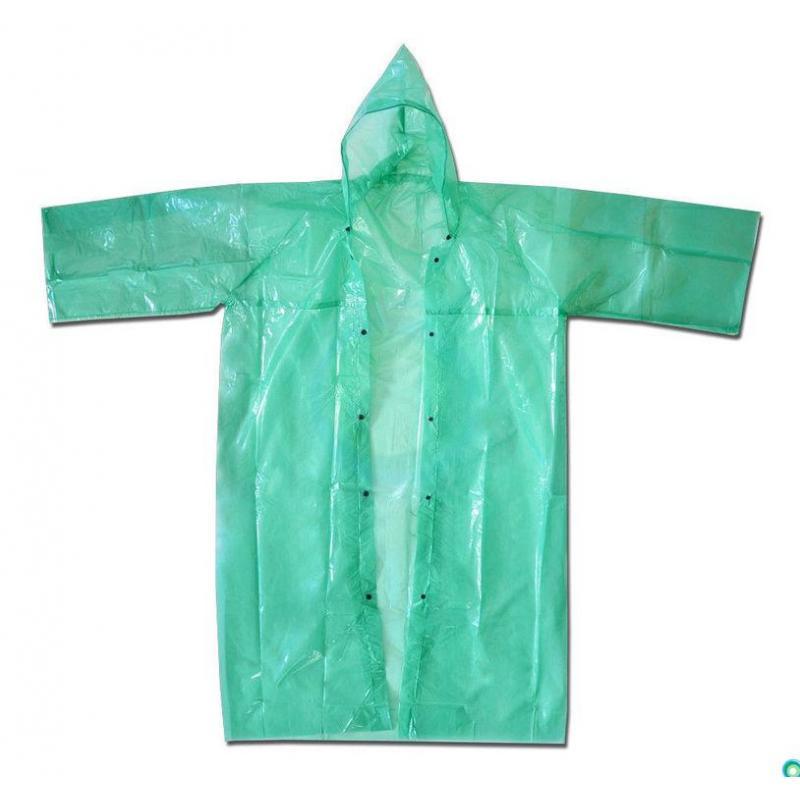 Плащ-дождевик полиэтиленовый, плотный (50 мкм)