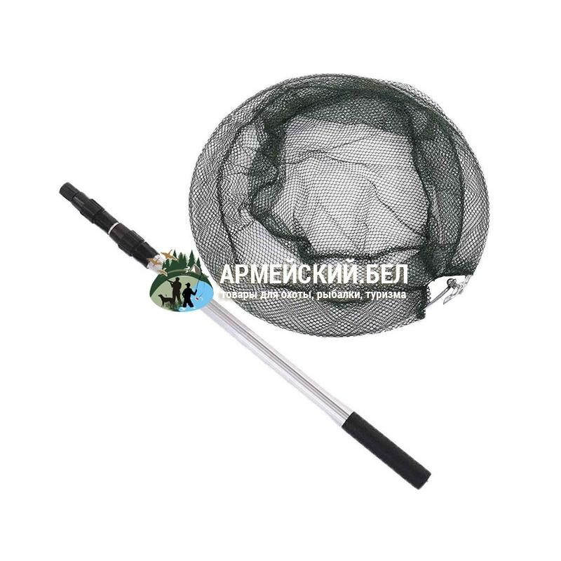 Подсачек складной телескопический круглый D 500 мм, нить, алюминиевый