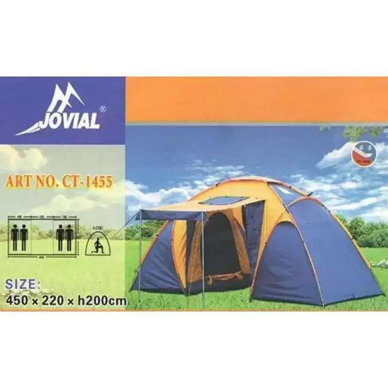 Палатка туристическая CT-1455, 2-х комнатная, 4-х местная с навесом