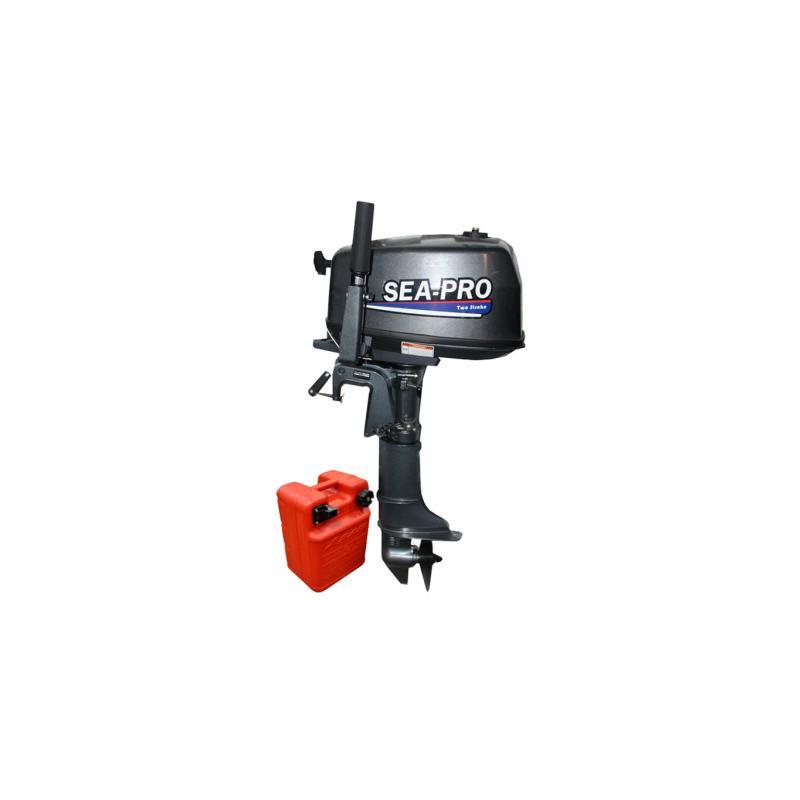 Лодочный мотор Sea-Pro F5S (139 см3), четырехтактный (копия YAMAHA F5) + бак 12.0 л