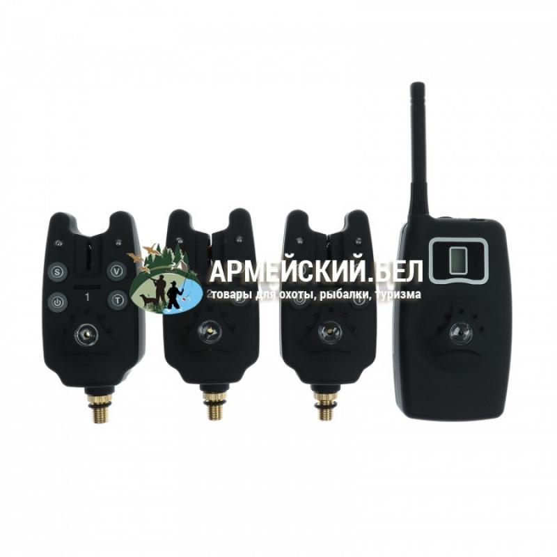 Набор сигнализаторов поклёвки с пейджером Кaide (беспроводной) в кейсе (3 в 1)