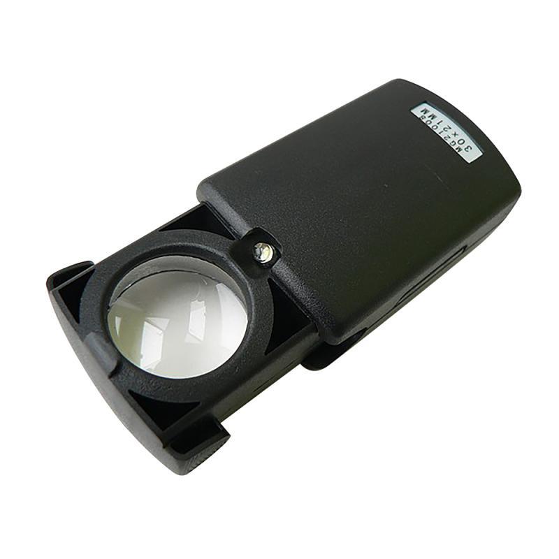 Лупа с подсветкой Следопыт, кратность 30 х, d л. 21 мм,с комплектом батареек, вес 31 г