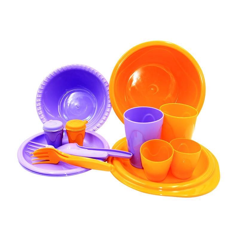 Набор для пикника СЛЕДОПЫТ «Siesta» пластик, на 2 персоны, сумка