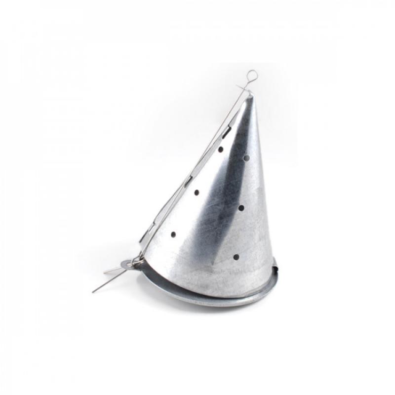 Кормушка зимняя металлическая конус самосброс
