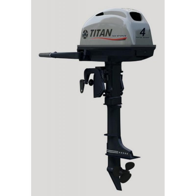 Лодочный мотор TITAN FTP 4 AMHS (139 см3), четырехтактный, точная копия YAMAHA
