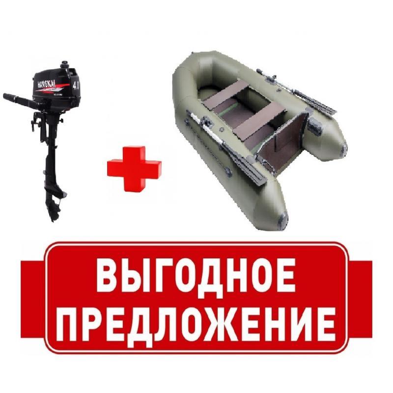 Комплект Лодка ПВХ М290 + Мотор 4 л.с.