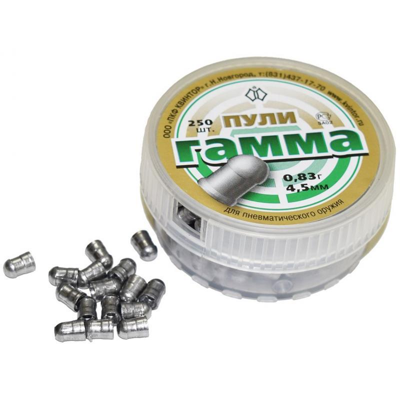 Пули пневматические  Гамма 4,5 мм, 0,83 гр (250 шт.)